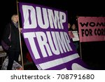Small photo of London, United Kingdon - Febuary 20th, 2017: Protesters gather in Parliament Square to protest the invitation to United States President Donald Trump on a state visit to Great Britain.