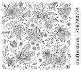 adult color flower  | Shutterstock .eps vector #708793774