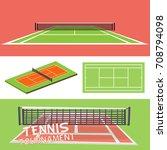 tennis court   Shutterstock .eps vector #708794098