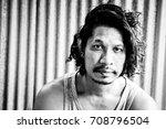 close up portrait of man face... | Shutterstock . vector #708796504