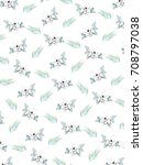 creative pattern background... | Shutterstock . vector #708797038