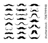 mustaches icons set. vector... | Shutterstock .eps vector #708799948