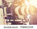 filming with professional... | Shutterstock . vector #708801544