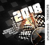 abstract racing checkered... | Shutterstock .eps vector #708808198