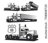 classic heavy truck... | Shutterstock . vector #708808720