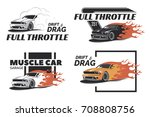set of muscle logo  badges and... | Shutterstock . vector #708808756
