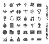 startup solid web icons. vector ... | Shutterstock .eps vector #708808834