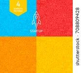 line startup patterns. four... | Shutterstock .eps vector #708809428