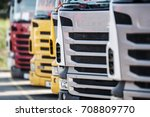 New and Pre Owned Semi Trucks For Sale.  - stock photo