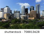houston downtown skyline with... | Shutterstock . vector #708813628