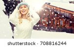 winter  vacation  christmas and ...   Shutterstock . vector #708816244