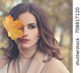 Autumn Beauty. Perfect Woman...