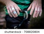 skin injury after hard rock... | Shutterstock . vector #708820804