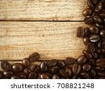 coffee beans for background | Shutterstock . vector #708821248
