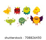 funny fruit and berry hero ... | Shutterstock .eps vector #708826450