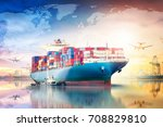 global business logistics... | Shutterstock . vector #708829810