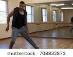 Young Male Dancer Practicing On ...