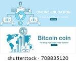 online education concept in... | Shutterstock .eps vector #708835120