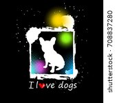 french bulldog. vector... | Shutterstock .eps vector #708837280
