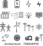 electricity  electric icon set  ... | Shutterstock .eps vector #708838990