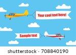 flying advertising banners ... | Shutterstock .eps vector #708840190