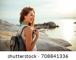 shot of a young woman exploring ... | Shutterstock . vector #708841336