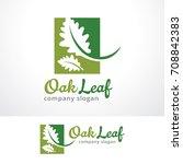oak leaf logo template design... | Shutterstock .eps vector #708842383