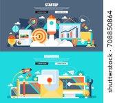 flat concept web banner of... | Shutterstock .eps vector #708850864