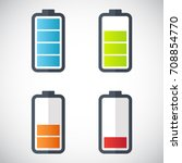 illustration of battery level... | Shutterstock .eps vector #708854770