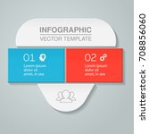 vector infographic template  2... | Shutterstock .eps vector #708856060