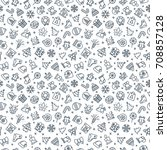 christmas pattern consisting of ... | Shutterstock . vector #708857128