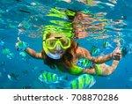 happy family   girl in...   Shutterstock . vector #708870286