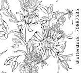 monochrome seamless pattern | Shutterstock .eps vector #70887535