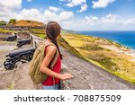 Tourist Girl On St Kitts Islan...