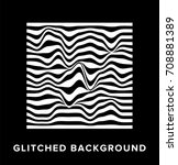 image of glitched wireframe on... | Shutterstock .eps vector #708881389