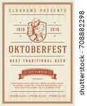 oktoberfest beer festival...   Shutterstock .eps vector #708882298