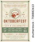oktoberfest beer festival... | Shutterstock .eps vector #708882613