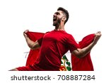 peruvian fan   sport player... | Shutterstock . vector #708887284