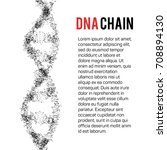 the structure of the dna chain... | Shutterstock .eps vector #708894130