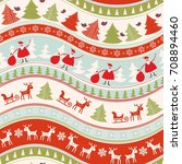 christmas seamless colorful... | Shutterstock .eps vector #708894460