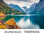 dramatic summer view of... | Shutterstock . vector #708898306