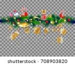 christmas festive ornament on... | Shutterstock .eps vector #708903820