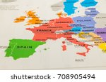 europe map | Shutterstock . vector #708905494
