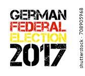 german flag paint brush strokes ... | Shutterstock .eps vector #708905968