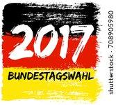 german flag paint brush strokes ... | Shutterstock .eps vector #708905980