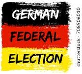 german flag paint brush strokes ... | Shutterstock .eps vector #708906010