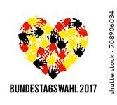 german flag paint brush strokes ... | Shutterstock .eps vector #708906034