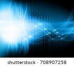 best internet concept of global ... | Shutterstock . vector #708907258