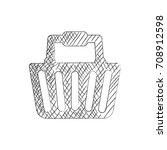 sketch shopping icon vector