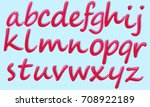 small pink letters of the... | Shutterstock .eps vector #708922189